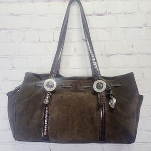 Brighton Suede & Leather Tote